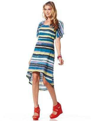 C&C California Printed striped dress