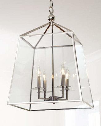 REGINA ANDREW Square 4-Light Glass Lantern