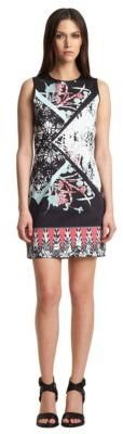 Kenneth Cole NEW YORK Mixed Print Shift Dress