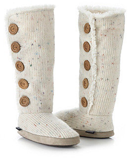 Muk Luks Malena Fur Lined Button Up Slipper Boots