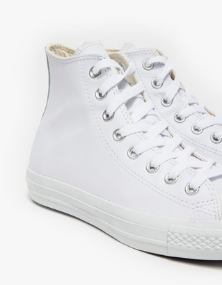 Converse Hi All Star White Leather