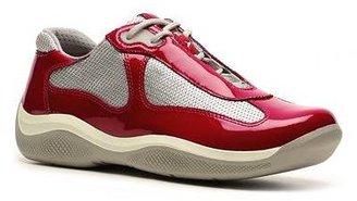 Prada Patent Leather and Mesh Sneaker