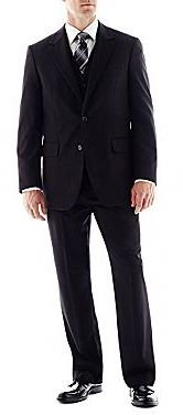 Arrow Black Herringbone Suit Separates