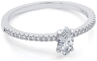 Crislu Micro Pave Solitaire Stackables Collection Marquise Cut Ring