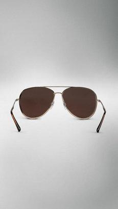 Burberry Metal Aviator Sunglasses