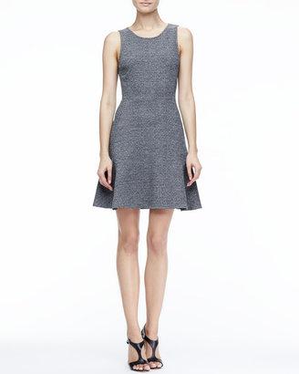 Theory Nikay Flared Tweed Dress