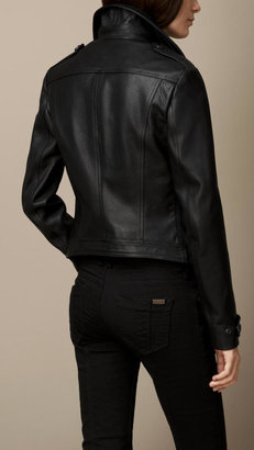 Burberry Grainy Leather Blouson