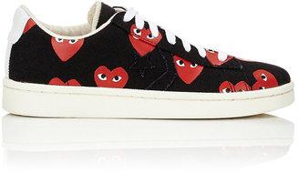 Comme des Garçons PLAY Women's Heart-Print Pro Sneakers-BLACK $140 thestylecure.com