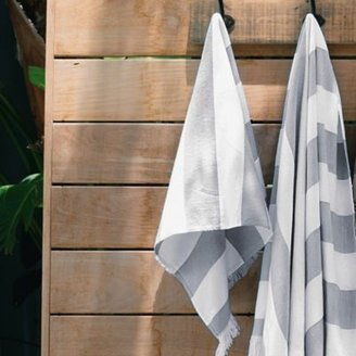 The White Company Wide Stripe Pestemal Towels