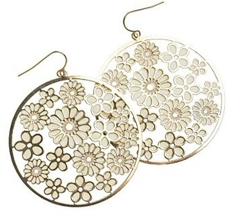 Red Herring Gold coloured flower cut out earrings
