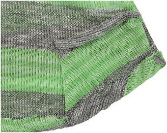 Erge Bold Tee - Heather Grey Lime-S 7/8