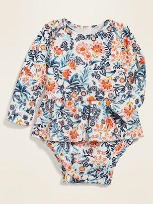 Old Navy Long-Sleeve Peplum-Hem Bodysuit for Baby