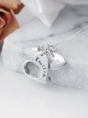 Under the Rose Personalised Fingerprint Charm Necklace