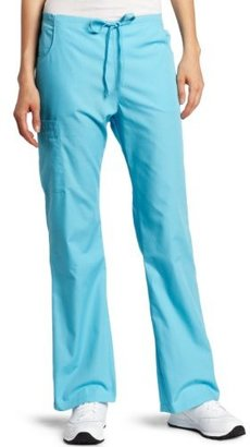 Dickies Scrubs Women's Tall Back Elastic Cargo Pant, Icy Turquoise, XX-Large