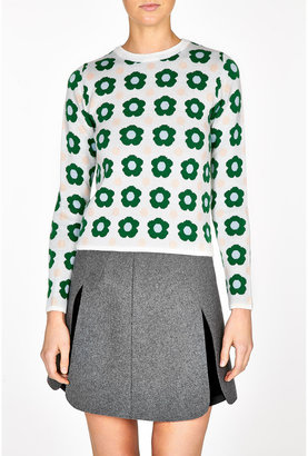 J.W.Anderson Green Floral Sweater