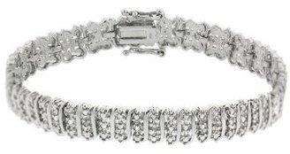 Sterling Silver Diamond Accent Tennis Bracelet