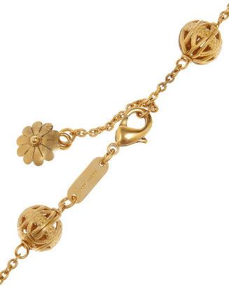 Dolce & Gabbana Gold-plated Swarovski crystal cross necklace