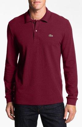 Men's Lacoste Classic Fit Long Sleeve Pique Polo $99.50 thestylecure.com