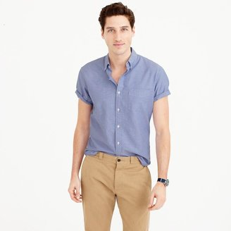 Short-sleeve oxford shirt $54.50 thestylecure.com