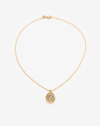 Alexis Bittar Crystal Encrusted Pendant Drop Necklace