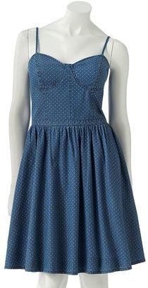 Lauren Conrad fit & flare polka-dot bustier sundress
