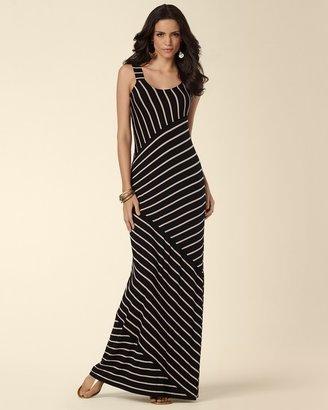 Soma Intimates Angled Stripe Maxi Dress