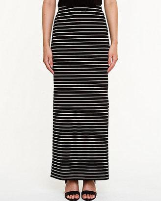 Le Château Stripe Knit Maxi Skirt