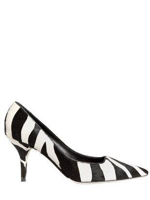 Dolce & Gabbana 70mm Zebra Printed Pony Pumps