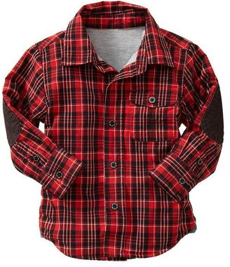 Gap Elbow-patch plaid shirt