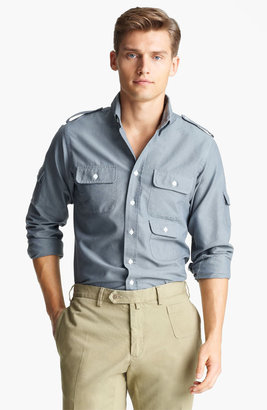 Michael Bastian Gant by Multi Pocket Woven Shirt