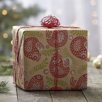 Crate & Barrel Partridge Gift Wrap.