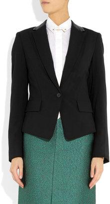 Alexander Wang Wool-blend and leather blazer