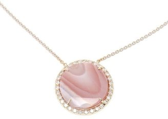 Kimberly Mcdonald 18k White Gold Agate & Diamond Necklace