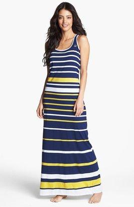 Sperry Stripe Jersey Maxi Dress Navy Large