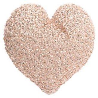Star by Julien Macdonald Light pink sequinned heart cushion
