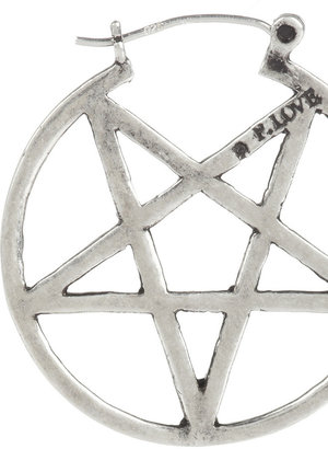 Pamela Love Mini Pentagram silver earrings