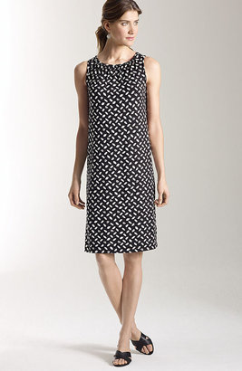 J. Jill Wearever gathered sleeveless print dress