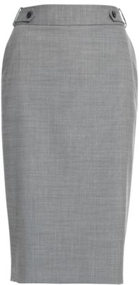 Reiss Pansy Side Tab Skirt, Grey