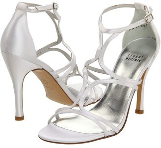 Stuart Weitzman & Evening Collection - Tracking (White Satin) - Footwear