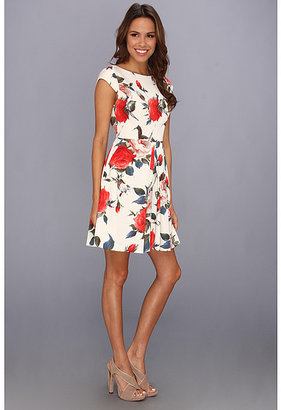 ABS by Allen Schwartz Fit and Flare Vintage Floral Dress