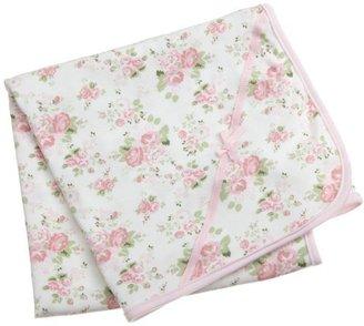 Little Me Cabbage Rose Tag along Blanket