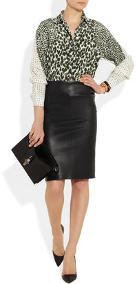 Joseph Leather pencil skirt