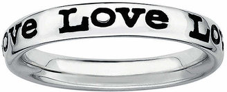 FINE JEWELRY Personally Stackable Sterling Silver Love Stackable Ring