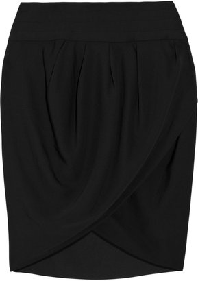 By Malene Birger Lilia crepe wrap-effect mini skirt