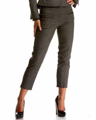 Bebe Italian Plaid & Tweed Ankle Pant