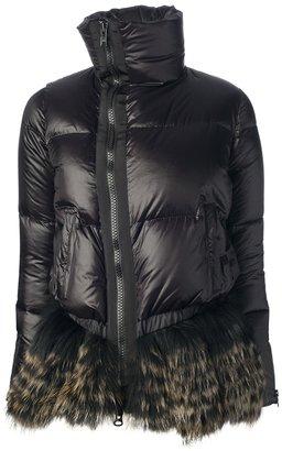 Sacai raccoon skirt hem jacket