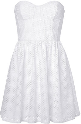 Juicy Couture Eyelet Bustier Dress $275 thestylecure.com