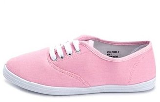 Charlotte Russe Canvas Lace-Up Sneaker