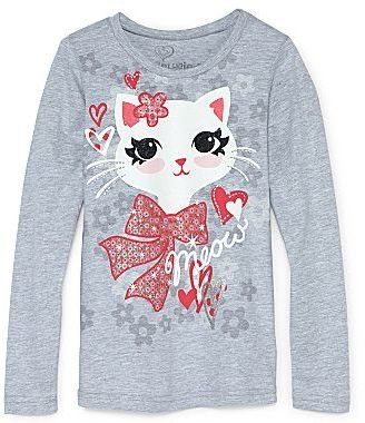 JCPenney Girlyfied® Kitty Long-Sleeve Graphic Tee - Girls 4-16