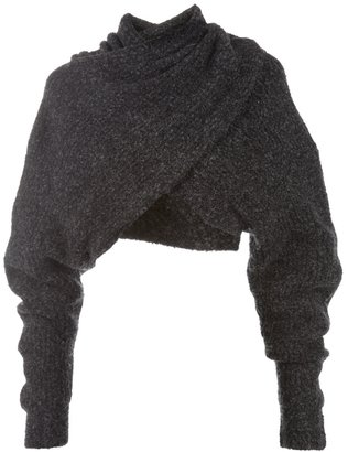 Alexander Wang cropped wrap over jumper